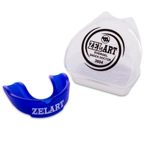 Капа боксерская односторонняя (одночелюстная) в футляре Zelart