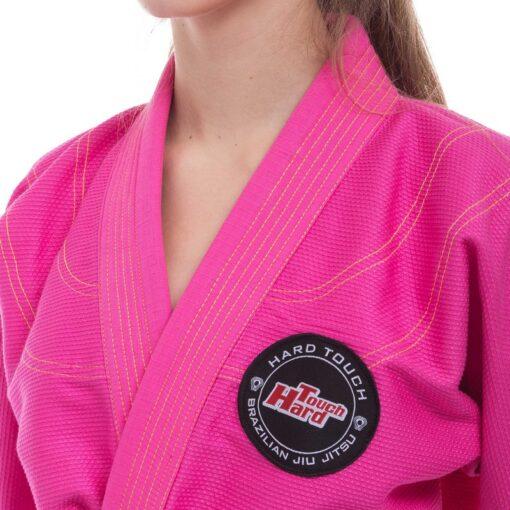 Кимоно женское для джиу джитсу розовое HARD TOUCH JJSL
