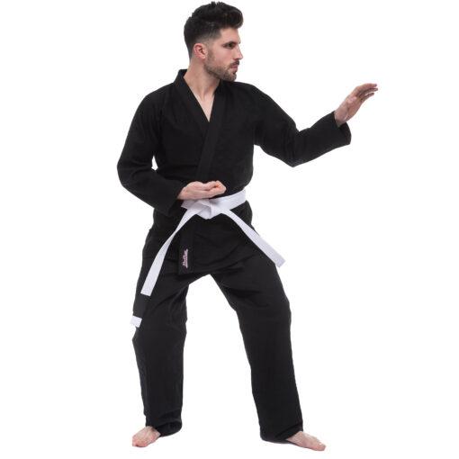 Кимоно для джиу джитсу черное HARD TOUCH JJS